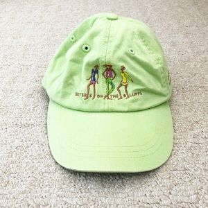Lime green Martha's Vineyard 'Sisters' hat